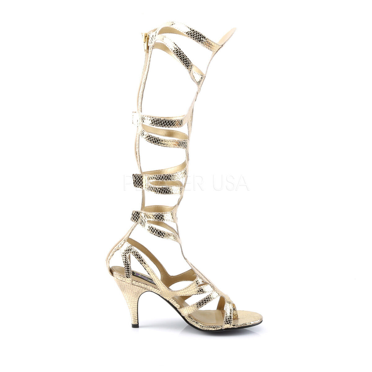 Sexy Egyptian Strappy Cleopatra Goddess Halloween Costume Gold Strappy Egyptian Sandales Schuhes cd3e3e