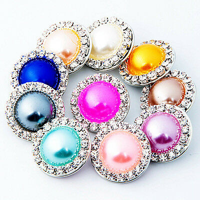 New 20pcs Lot Mix Colors 18mm Ginger Snap Diy Sanps Chunk Charm Button Jewelry