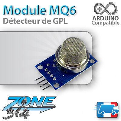 Module MQ6 - Capteur / Detecteur de GPL / Butane / Propane (Arduino Gas Sensor )