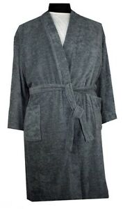 Espionage Grey Towelling Dressing Gown Robe Big Men 2xl 3xl 4xl 5xl
