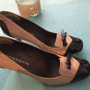 New-without-box-Women-designer-Patten-leather-shoe-size-7-5med