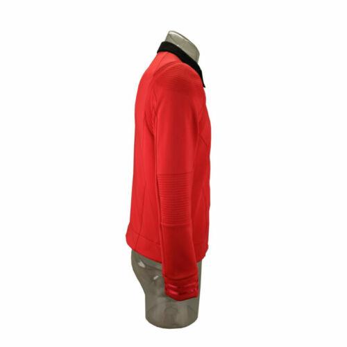 Star Trek Discovery 2 Engineering Commander Male Red Uniform  Top Shirt Pin Set
