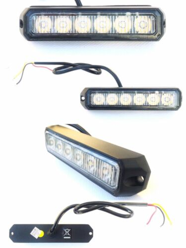 4x LED frontblitzer heckblitzer 128x28x19 12v 24v 18w coche camión straßenräumer e9