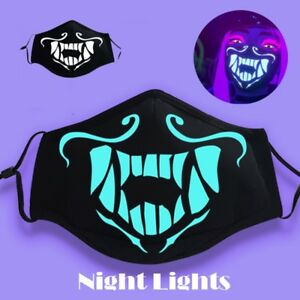 Kda Akali Cosplay S8 Face Mask Night Lights Luminous Ebay