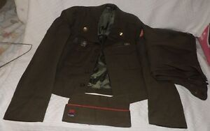 Image is loading WWII-7th-Army-Military-Uniform-Ike-Jacket-Pants- c8f7b5e24c7