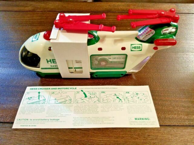 2001 Hess Toy Helicopter Motorcycle Cruiser For Sale Online Ebay