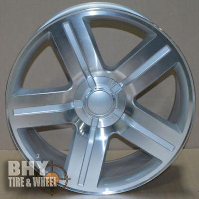 Texas Edition Tahoe >> 26 Wheels Texas Edition Rims Chevy Silverado Tahoe Silver Machined Gmc Yukon Ltz Ebay