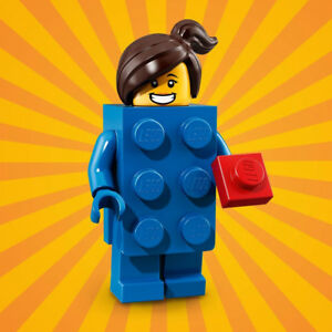 LEGO-Minifigure-S18-Brick-suit-girl-blue-minifig-col314-FREE-POST