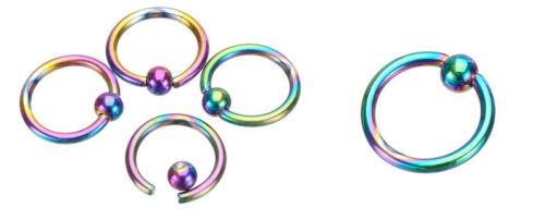 2//5//10Pcs Bead Ring Ball Hoop Eyebrow Nipple Nose Lip Earrings Body Piercing