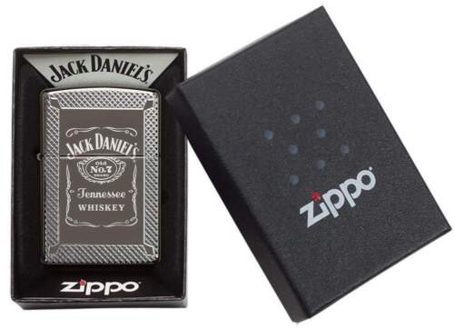 Zippo Armor Deep Carved Lighter With Laser Engraved Jack Daniels Logo 49040 NIB