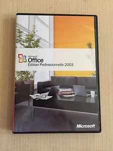 """Microsoft Office Edition Professionnelle 2003 - France - État : Occasion : Objet ayant été utilisé. Consulter la description du vendeur pour avoir plus de détails sur les éventuelles imperfections. Commentaires du vendeur : """"Trs bon état comme neuf"""" - France"""