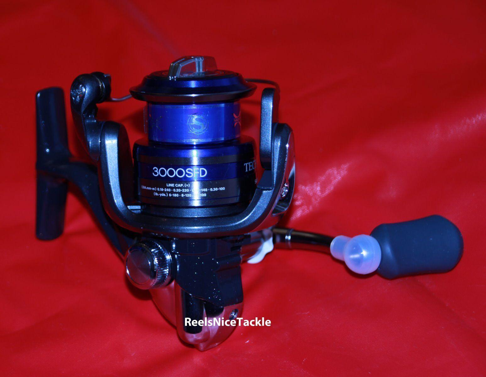 NIB Shimano Technium 3000 SFD Spinning Reel 3 TEC3000SFD plus spare spool FREE 3 Reel D a9deee