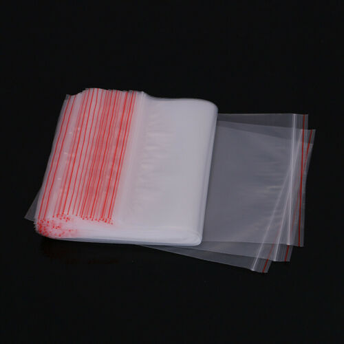 100x Small Zip Lock Plastic Bags Resealable Transparent Vacuum Food Pouch Clear