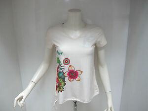 DESIGUAL-t-shirt-donna-manica-corta-mod-CD-60T2SD1-1013-col-BEIGE-estate-2016