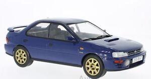 IXO-18CMC002-SUBARU-IMPREZA-WRX-McRAE-Series-diecast-model-car-blue-1995-1-18th