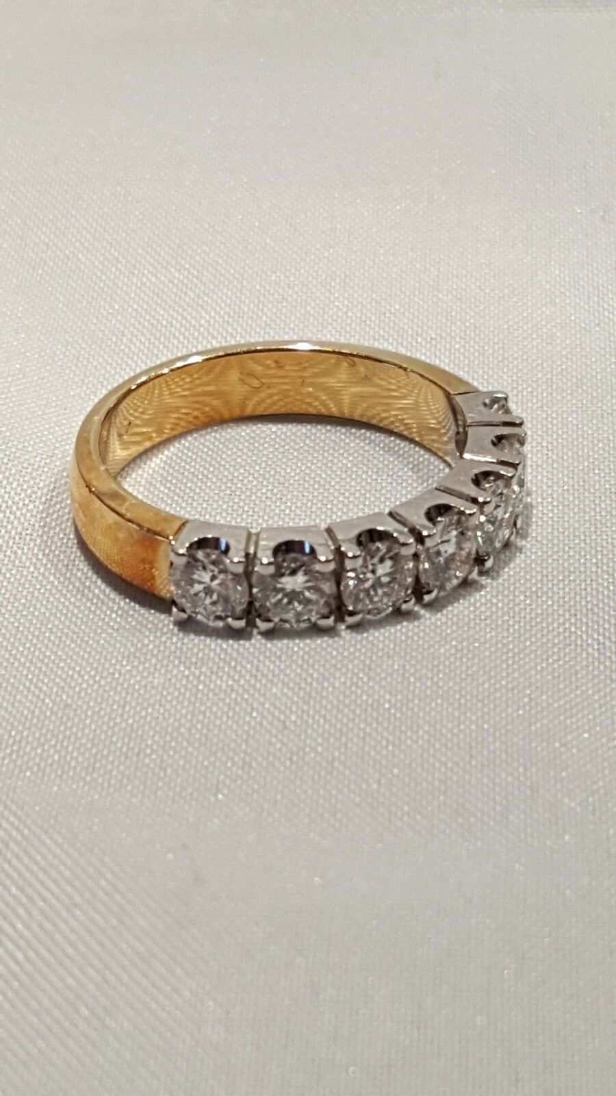 Ladies, ring, Brilliant, Daimond, yellow gold,  7x 20 ct, 1.40 ct total