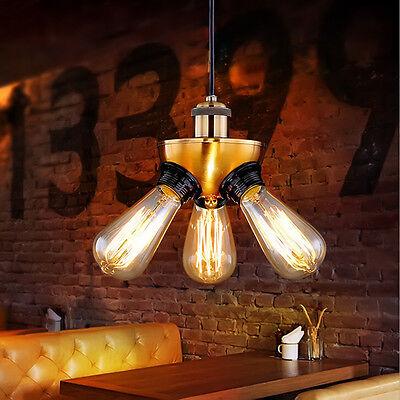 Retro Vintage Industrial Metal Bar Black Pendant Lamp Hanging Ceiling Light Lamp