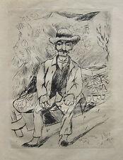 Rudolf Grossmann (1882-1941 Freiburg i.Br.) Der alte Gärtner. Or.-Radierung 1921