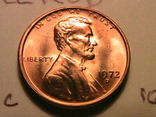 1972 D Lincoln Memorial Penny Fill Your Coin Book Unc #0017