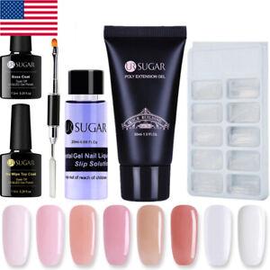 6Pcs-set-UR-SUGAR-Nail-Poly-Quick-Extension-Gel-UV-Gel-Brush-Mold-False-Tips-Kit