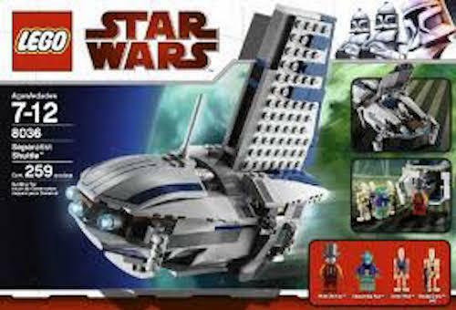 LEGO  STAR  WARS   SEPERATIST  SHUTTLE   8036.  BRAND  NEW