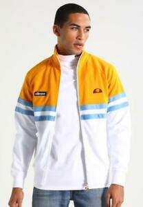 Ellesse-Track-Top-Rimini-Yellow-White-Stripe-Logo-Small