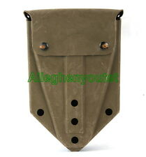 Entrenching E-Tool Shovel Carrier Pouch Cover Case COYOTE BROWN w Alice Clips GC