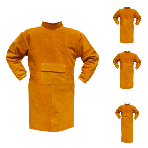 Welding Coat Protective Apron Apparel Welding Suit Cowhide Leather Safety