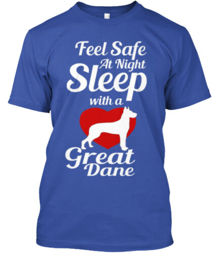 Feel Safe At Night- Night Sleep With A Great Dane Standard Unisex T-shirt