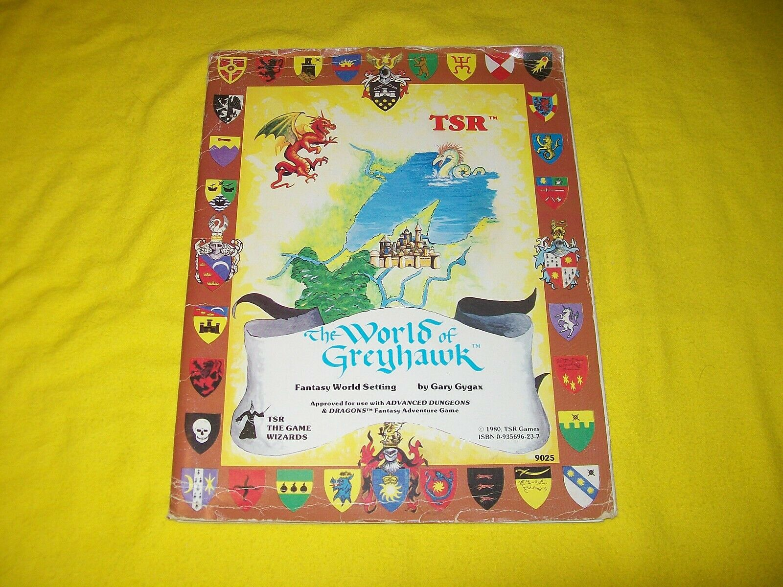 THE WORLD OF GREYHAWK FANTASY WORLD SETTING FOLIO DUNGEONS & DRAGONS AD&D 9025 9