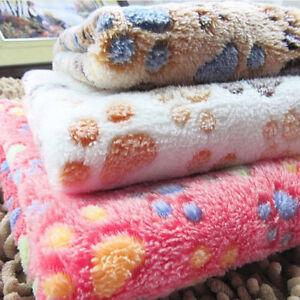 1x Pet Cat Dog Warm Mat Bed Cushion Small Large Paw Puppy Fleece Soft Blanket SH