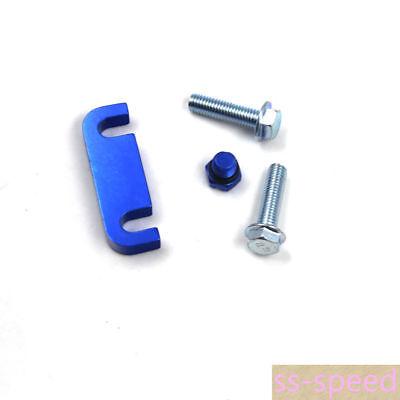 Blue Fuel Filter Housing Spacer+Air Bleeder Screw 2pcs Bolts Duramax 01-17