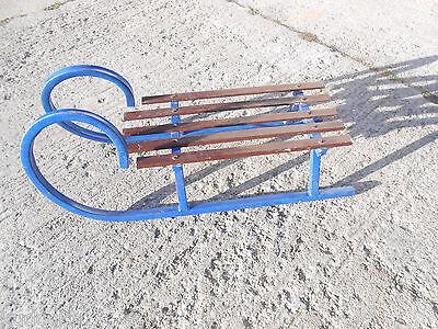 Hörnerschlitten Rodelschlitten DDR Rodel Schlitten Holzschlitten Holz Metall