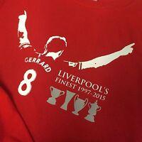 Steven Gerrard Liverpool's Finest 1997-2015 Football T-Shirt Adult & Kids Sizes