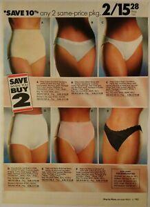 1991-Vintage-PAPER-PRINT-AD-cotton-brief-bikini-bra-panty-lingerie-underwear