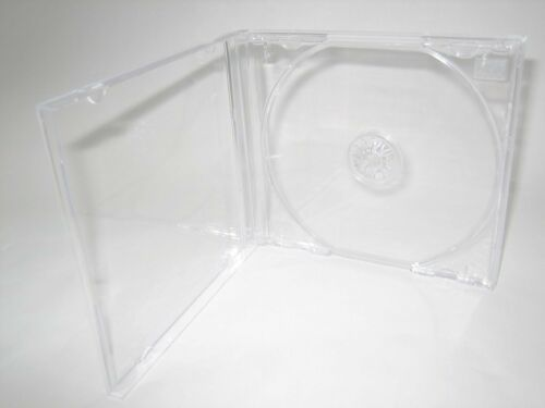 100 New Top  10.4mm Single CD Jewel Cases w//Clear Tray,KC04PK,Made in USA