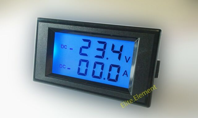 DC 0-20V +/- 50A Positive Negative Current Meter Self-Powered Battery AGM SLA DS