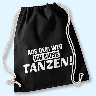 Hipster Beutel Tasche Jutebeutel Gymbag Turnbeutel - Aus dem Weg