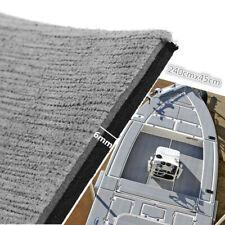 "17.7""x94"" EVA Foam Gray Teak Mat Marine Boat Deck Flooring Carpet Self-Adhesive"