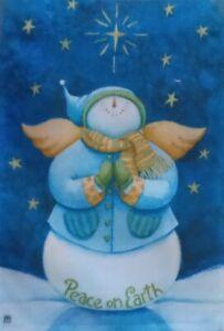Snow Angel Standard House Flag by Breeze Art #4208, Snowman