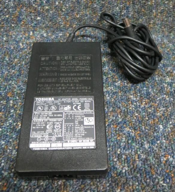 Original Toshiba PA3048U-1ACA 60W 15V 4A Laptop AC Power Adapter With Mains Lead
