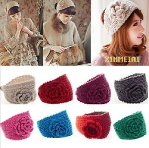 new wholesale women knitted rose headband hair band ski. Black Bedroom Furniture Sets. Home Design Ideas