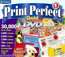 PRINT PERFECT GOLD DVD.BRAND NEW SEALED DVD FOR WINDOWS. SHIPS FAST SHIPS FREE