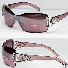 New DG Shield Womens Designer Sunglasses Shades Wrap Fashion Retro Light Purple