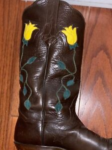 673b3541870 Details about JB Hill Cowboy Boots. Custom Spring Rose Water Buffalo boots.  Mens size 8.5