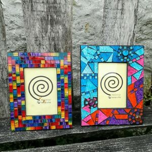 Photo-Picture-Frames-Mosaic-Rainbow-Fair-Trade-Hand-Made-Frame-Crafted-Bali