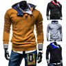 NEW Men's Casual Fashion Slim Fit Sexy Top Designed Hoodies Jackets Coats Tops l