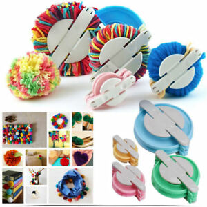 4 Size Pom pom Maker Makers Fluff Ball Weaver Knitting Needle DIY Tool Kit Decor 6263943240689