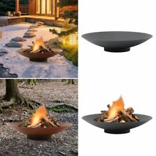 Outdoor Fire Pit Garden Patio Heater Log Wood Burner Camping Picnic with Base
