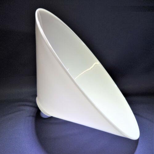 Kragen Ø55mm Ersatzglas Lampenschirm Schusterschirm Opal weiß glänzend Ø290mm